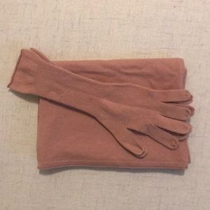 JCrew cashmere gloves and scarf